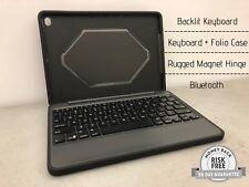 Zagg Rugged Book Case for Apple iPad Air 2, Backlit Keyboard, BT, ID6RGK-BB0