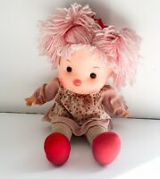 Komfy Kid Doll Vintage Pink Yarn Hair Pigtails Cloth Body With Outfit