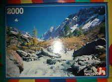 PUZZLE NATHAN 2000 Piece Jigsaw Puzzle 1983 Torrent En Montagne Wildbach RARE