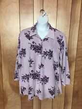 WOMEN'S JASON MAXWELL WOMAN FLORAL TOP-SIZE: 3X