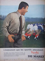 PUBLICITÉ DE PRESSE 1961 CHEMISE VIYELLA DE MARLY - RUGBY - ADVERTISING