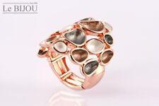 Le Bijou rosé vergoldeter Stretch-Ring, Universalgröße