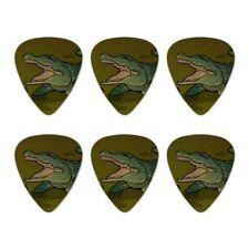 Alligator in Swamp with Lily Pads Novelty Guitar Picks Medium Gauge - Set of 6
