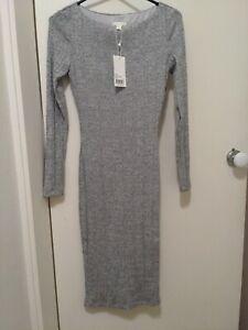 Kookai Grey marle knit dress 2 (Old Size) BNWT RRP $160