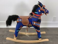 PENDLETON Rocking Horse Blue Western with Galloping & Cowboy sounds