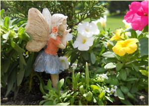 Fairy Garden Fun Fairy Nancy Jean Blowing Kisses Fairy Resin Mini Dollhouse  NEW