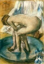 Edgar Degas canvas print Woman bathing in a basin giclee 8X12&12X17