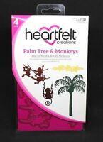 Heartfelt Creations Die Palm Tree & Monkeys Set of 4 Dies HCD1-7132 Cards Crafts