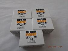 ILFORD PAN F 50 35mm 36 Exp B&W FILM (5 Pack)