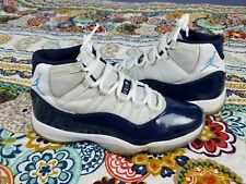 Air Jordan Retro 11 XI Win Like 82 Mens Sz 10.5 Basketball Shoes Navy Blue White