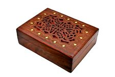 Artist Haat Large Antique Celtic Wooden Jewellery Box treasure Chest Trinket Box