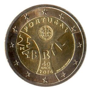 Pièce commémorative de 2 euros - Portugal 2014 - la Révolution des oeillets