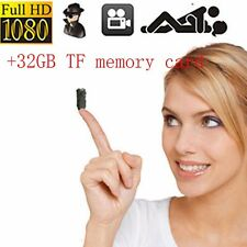 1080P HD built-in battery mini camera recorder audio hidden spy camera DVR +32GB