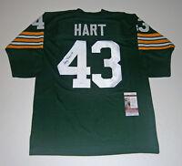 PACKERS Doug Hart signed custom green jersey w/ #43 JSA COA AUTO Autographed