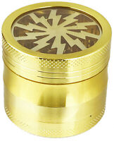 """2"""" 4 Piece Pretty Top and Bottom See through Grinder Tobacco Spice Herb Crusher"""