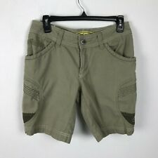 Keen Womens Khaki Beige Cargo Hiking Outdoor Shorts Pockets Cotton Size 2