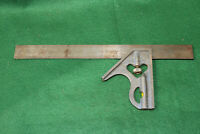 "VINTAGE MEASURING CRAFTSMAN MADE IN USA COMBINATION 12"" SQUARE LEVEL Inv#GS38"