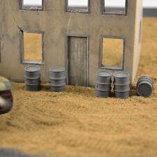 #7211 Plaster 1/72 German Oil Drums, 15 Pieces Produits MP Wargames fuel barils