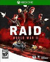 RAID: World War II 2 WW2 Xbox One Sealed New