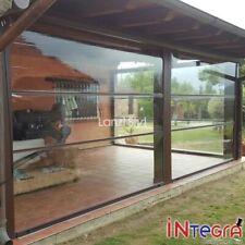 Chiusure per Portici e Tettoie, tenda in PVC trasparente