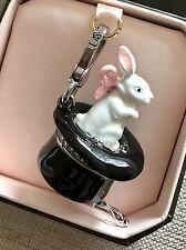NIB Juicy Couture Magic Hat Bunny Rabbit Silver Bracelet Charm YJRU3943