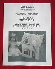 Dura-Craft  *TUDOR* TD-200 (1989)  Dollhouse Instructions