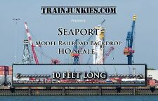 "TrainJunkies HO Scale ""Seaport"" Model Railroad Backdrop 18x120"""