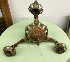 Antique Hanging Cast Chandelier Fixture Art Deco Victorian Salvaged
