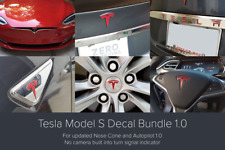 Tesla Model S Decal Bundle - for updated Nose Cone & Autopilot 1.0 (Red)