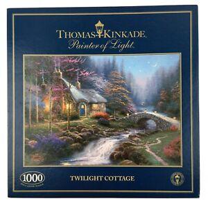 Twilight Cottage Jigsaw Puzzle 1000 Gibsons Thomas Kinkade Country House River