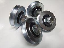 Brick Saw Carriage Wheels - Set 4, Incl. bearing, bolts, washers & nylock nuts.