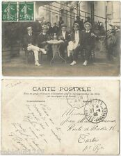 CPA PHOTO 1908 postcard Jakob Laub? (Einstein) groupe apéritif à Tarbes ? 396 R