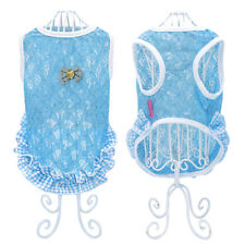 Smmer Dog Clothes Puppy Lace Dress Vest for Little Dog Lovely Teddy Apparel