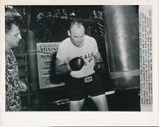 PETE RADEMACHER 1957 8 x 10 Boxing Press Photo Training for Floyd Patterson