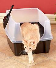 The Lakeside Collection Open Top Litter Box with Shield