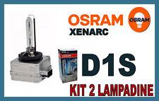 D1S KIT 2 LAMPADINE XENON ORIGINALE OSRAM XENARC 66144 66042 66043 SET LAMPADE