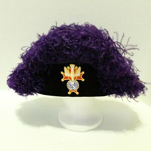 Knights Of Columbus Purple Ostrich Plume Chapeau Hat Sz 7.5 Velvet Made in USA