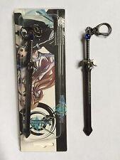 Sword Art Online SAO Anime Kirito Keychain KeyRing Elucidator Sword ship from US