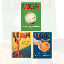 Leon Fast Vegetarian Cookbook Collection 3 Books Set (Leon: Naturally Fast Food)