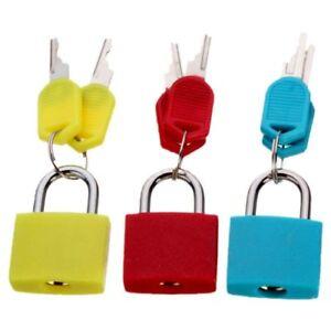 20mm Neon Colored Plastic Coated Brass Padlock Travel Luggage Padlocks light WT