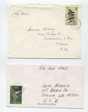 Two 1980s Montserrat covers bird and frog topicals [L.213]