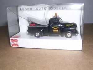 "Busch #48204  1950 Chevy Tow Truck ""Joe's Garage"" ""Black""   H.O.Scale 1/87"