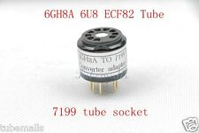 2piece*Gold plated 6GH8A(Adapter top) TO 7199 tube CONVERTER ADAPTER