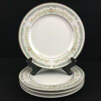 Set of 4 VTG Bread Plates Roseville Japan Translucent Fine China 4135 Floral