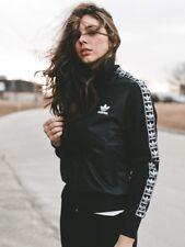 Adidas Originals W Leather Look Black Jacket Size UK 6, 8, 10, 12, 16 New (706)
