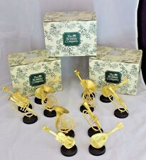 12 Table Placecard Name Holders Bombay Company Music Theme Horns Strings Gold
