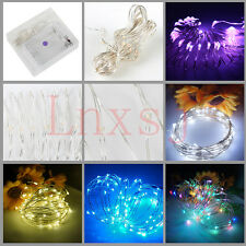 USB Christmas Micro LED Silver Wire Fairy String Light Battery Operated Tree