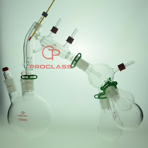 Proglass Chemistry Lab Glassware Distillation Kit 24/40 Distilling Apparatus