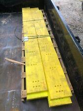 "4 Yellow Urethane Snow Plow Blades 2"" x 12"" x 120"" Lot of 4"