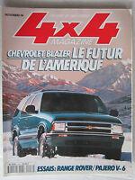 4X4 MAGAZINE N° 158 /CHEVROLET BLAZER/RANGE ROVER-PAJERO V6/FORD F350 XLT LIMITE